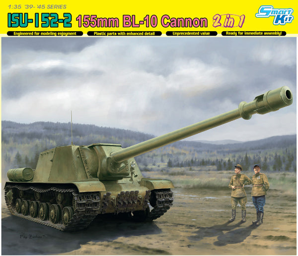 Dragon 1/35 ISU-152-2 155mm BL-10 Cannon 2in1 | 6796