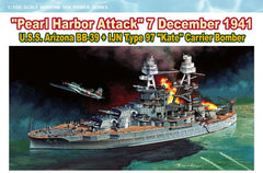 "Dragon 1/700 U.S.S. Arizona BB-39 + IJN Type 97 ""Kate"" Carrier Bomber  