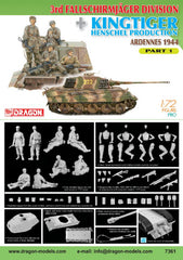 Dragon 1/72 3rd Fallschirmjager Division + Kingtiger Henschel Production (Ardennes 1944) Part 1 | 7361