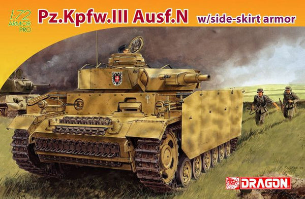 Dragon 1/72 Pz.Kpfw.III Ausf.N w/side-skirt armor | 7407