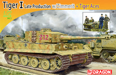 Dragon 1/72 Pz.Kpfw.VI Ausf.E Tiger I Late Production w/Zimmerit + Tiger Aces | 7440