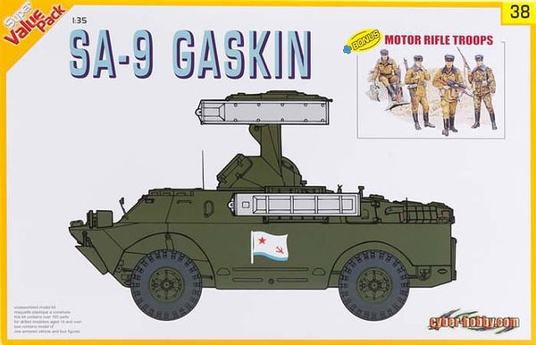 Dragon 1/35 Super Value Pack SA-9 Gaskin with Motor Rifle Troops | 9138