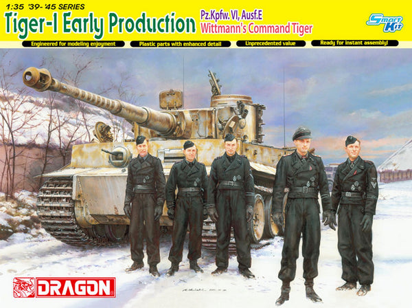 Dragon 1/35 Tiger-1 Early Production Pz.Kpfw.VI,Ausf.E Wittmann's Command Tiger | 6730