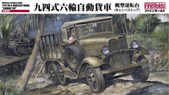 Fine Molds 1/35 1/35 IJA Type 94 6-Wheeled Truck Canvas Top | 31