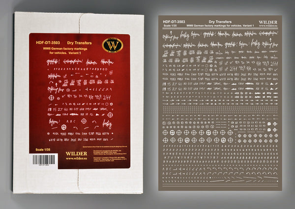 Wilder 1/35 Box with German Factory Markings - Variant 1 | 3503