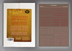 Wilder 1/35 Box German Numbers - Variant 1 RED | 3505