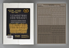 Wilder 1/35 Box German Numbers - Variant 1 BLACK WHITE OUTLINE | 3506