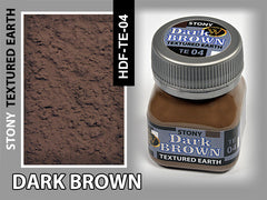 Wilder DARK BROWN STONY TEXTURED EARTH 50 ml | HDF-TE-04