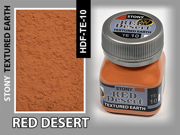 Wilder RED DESERT STONY TEXTURED EARTH 50 ml | HDF-TE-10