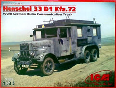 ICM 1/35 Henschel 33 D1 Kfz.72 WWII German Radio Communication Truck | 35467