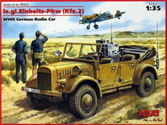 ICM 1/35 le.gl.Einheits-Pkw (Kfz.2) WWII German Radio Car | 35522