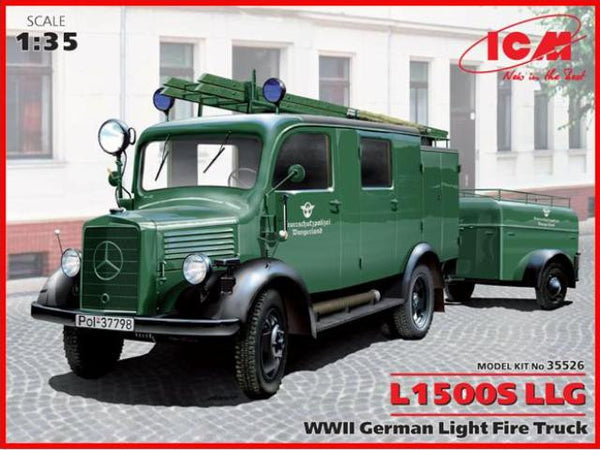 ICM 1/35 German Light Fire Truck L1500S LLG WWII | 35526