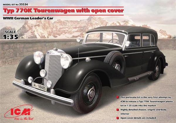 ICM 1/35 Typ 770K Tourenwagen with open cover WWII German Leader's Car | 35534