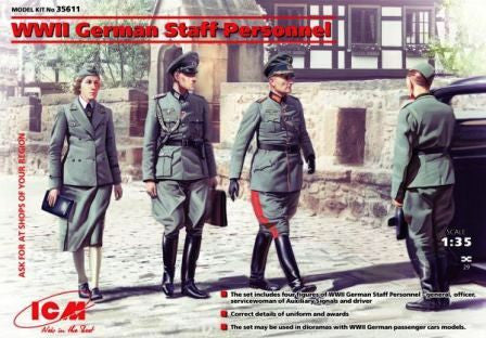 ICM 1/35 WWII German Staff Personnel |  35611