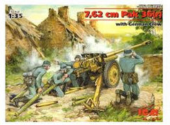 ICM 1/35 7,62cm Pak 36(r) with German Crew | 35801