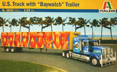 Italeri 1/24 U.S. Truck with Baywatch Trailer | ITA3832