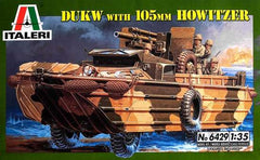 Italeri 1/35 DUKW with 105mm HOWITZER | 6429