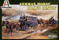 Italeri 1/35 German Horse Drawn Convoy | 6437