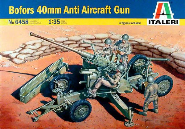 Italeri 1/35 Bofors 40mm Anit Aircraft Gun 4 figures included  | 6458