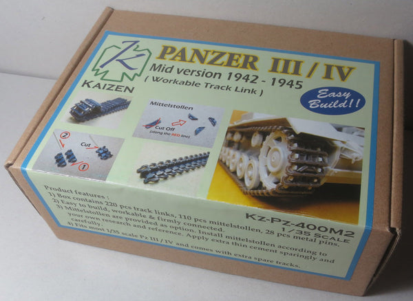 Kaizen 1/35 Panzer III/IV Mid. version 1942-1945 Workable Track Link