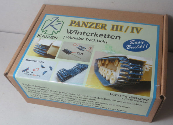 Kaizen 1/35 Panzer III/IV Winterketten Workable Track Link Set