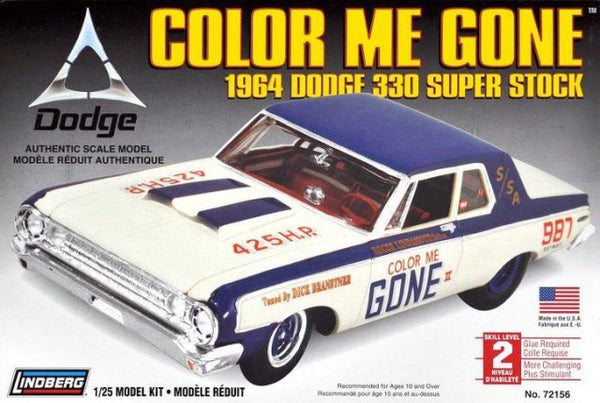 Lindberg 1/25 Color Me Gone 1964 Dodge 330 Super Stock | LIN72156