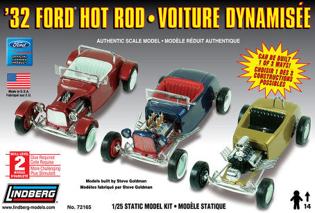 Lindberg 1/25 1932 Ford Hot Rod 3 in 1 | LIN72165