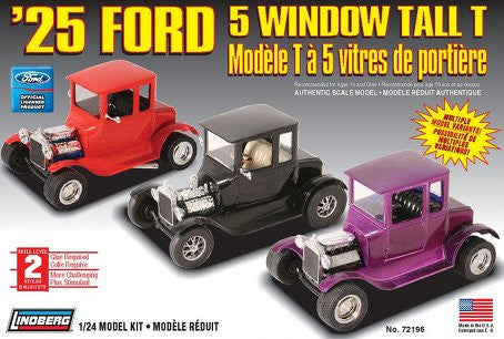 Lindberg 1/24 1925 Ford 5 Window Tall T | LIN72196