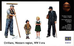 Master Box 1/35 Civilians, Western region, WWII | MB3567