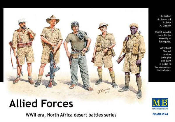 Master Box 1/35 Allied Forces, North Africa, desert battles series, WWII | MB3594