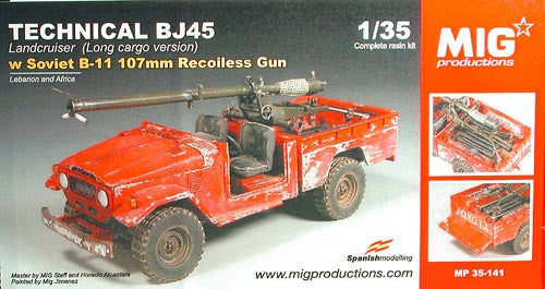 MIG Productions 1/35 Technical BJ45 and B-11 107mm Recoiless Gun | 35141