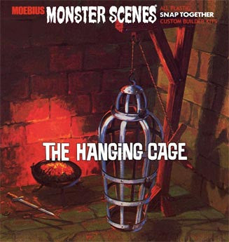 MOEBIUS 1/13 Monster Scenes: The Hanging Cage Snap Kit | MOE637