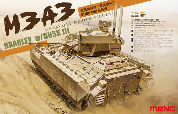 Meng 1/35 M3A3 Bradley with Busk III | SS006