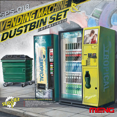 Meng 1/35 Vending Machine Dustbin Set | SPS018