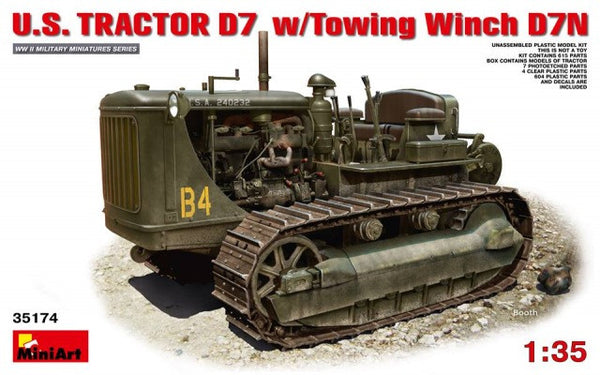 Miniart 1/35 U.S. Tractor D7 with Towing Winch D7N | 35174