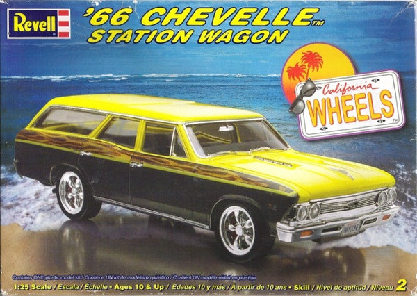 Revell 1/25 '66 Chevelle Station Wagon California Wheels | REV85-2185