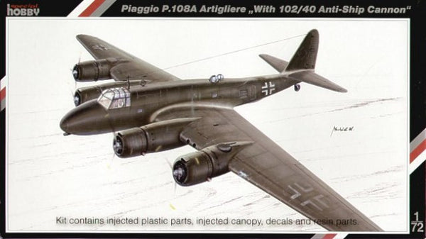 Special Hobby 1/72 Piaggio P.108A Artigliere with 102/40 Anti-ship Cannon | SH72065