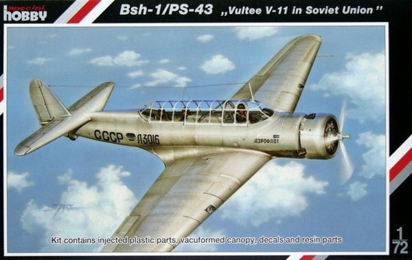 "Special Hobby 1/72 BSh-1/PS-43 ""Vultee V-11"" in Soviet Union 