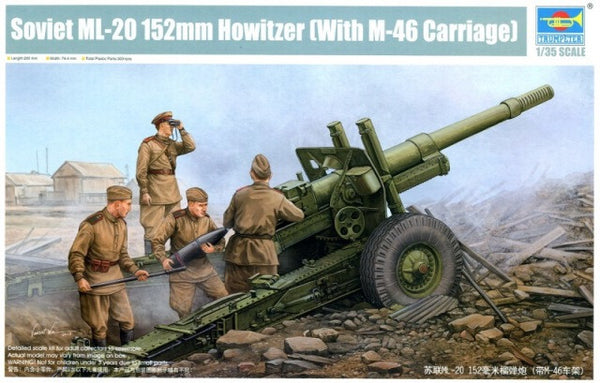 Trumpeter 1/35 Soviet ML-20 152mm Howitzer (with M-46 Carriage) | 02324