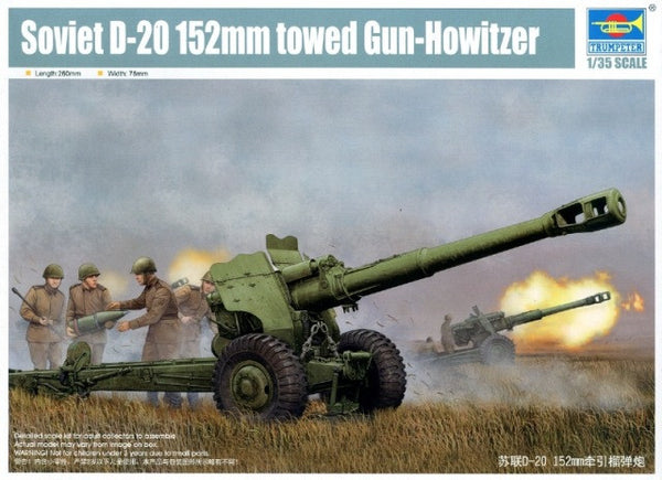 Trumpeter 1/35 Soviet D-20 152mm towed gun-howitzer | 02333