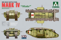 Takom 1/35 WWI Heavy Battle Tank Mark IV Male | 2008