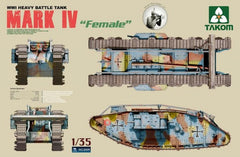 Takom 1/35 WWI Heavy Battle Tank Mark IV Female | 2009