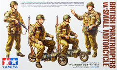 Tamiya 1/35 British Paratroopers with small Motorcycles | 35337