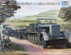 Trumpeter 1/72 German 18 Ton Heavy Half-Track and Tank Transporter Sd.Kfz.9 and Sd.Ah.116 | 07275