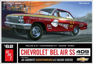 AMT 1/25 1962 Chevrolet Bel Air SS 409 Turbo Fire 2in Racing or Stock | AMT865
