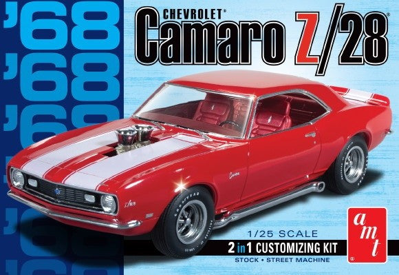AMT 1/25 1968 Chevorlet Camaro Z/28 2in1 Stock or Street Machine | AMT868