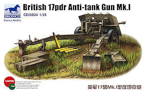 Bronco 1/35 British 17pdr Anti-tank Gun Mk.I   | CB35024