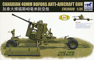 Bronco 1/35 Canadian 40mm Bofors Anti-Aircraft Gun   | CB35028