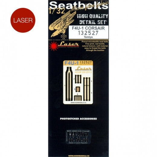 HGW 1/32 F4U-1 Corsair - Seatbelts | 132527