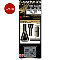 HGW 1/24 Airfix Hawker Typhoon Mk.I B - Seatbelts | 124507